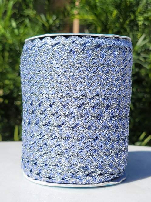 Cornflower w/Metallic Silver - 109 yards