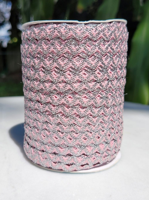 Pink w/Metallic Silver - 109 yards