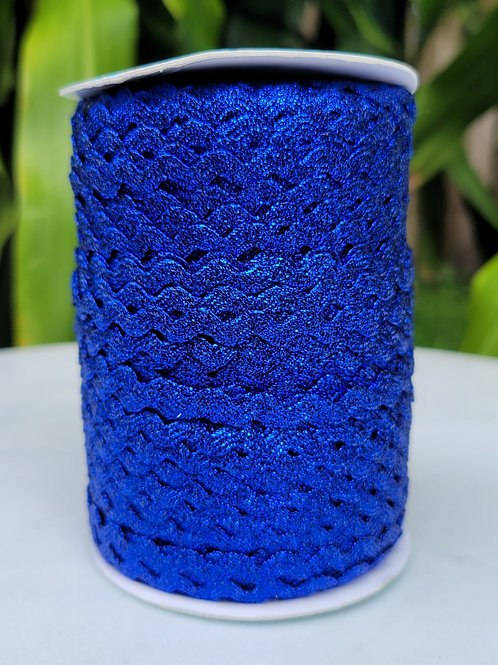 Metallic Blue Ric Rac - 109 yards