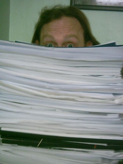 Script reading pile!