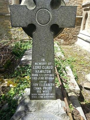 Hamilton gravestone at Elton church