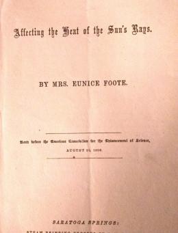 The saga of Eunice Foote and John Tyndall