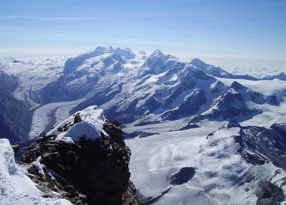 Monte Rosa from the summit of the Matterhorn