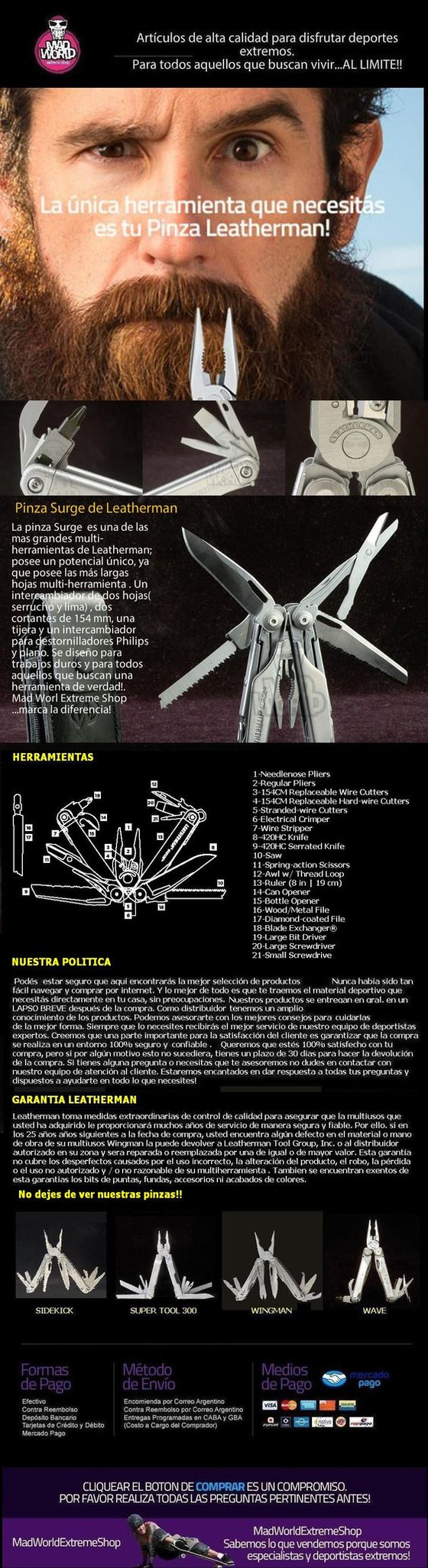 Pinza Multifuncion Surge Leatherman