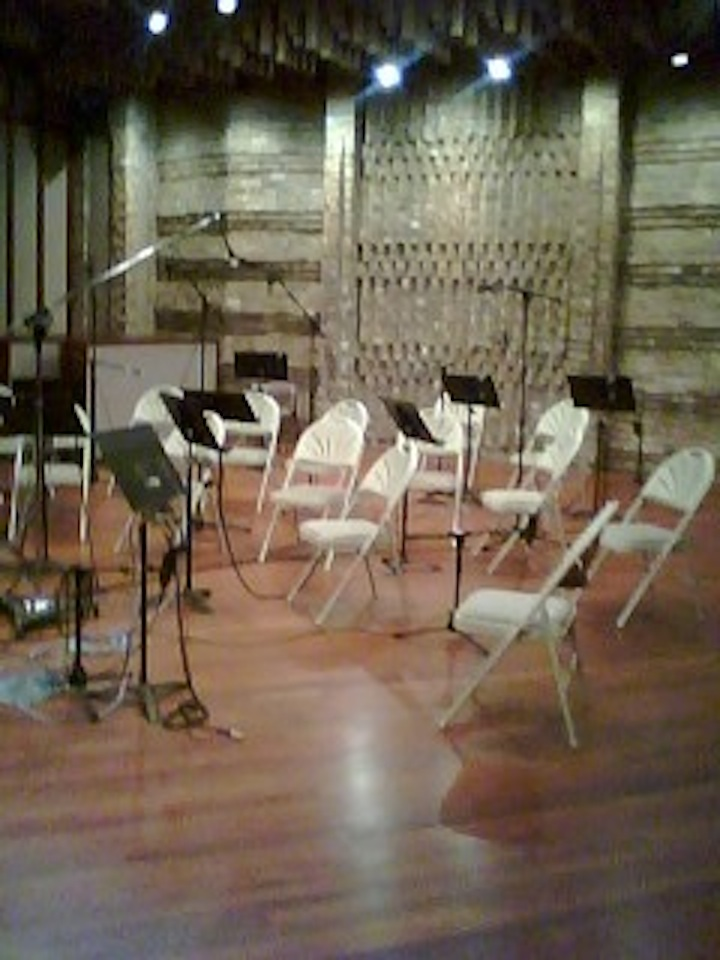 Studio prep for Symphony Orchestra