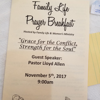 A Prayer Breakfast Program