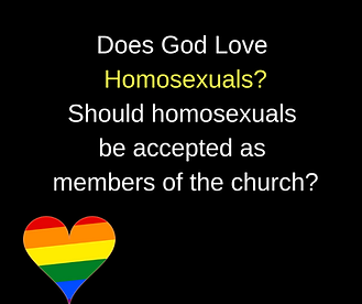 gay. church 2 Does God Love Homosexuals.