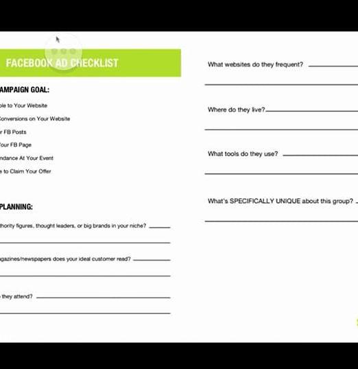 Facebook ad checklist digital marketers.