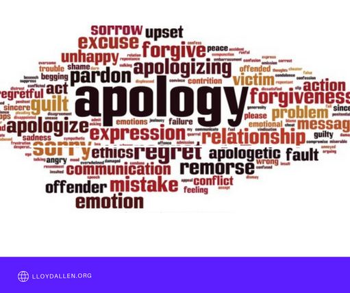 The Five (5) Components of an Apology