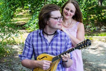 Playing music in the Arnold Arboretum in Jamaica Plain