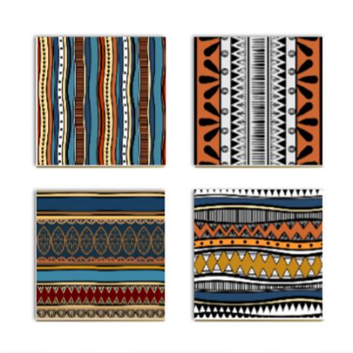 Navajo Ceramic Coasters (4)