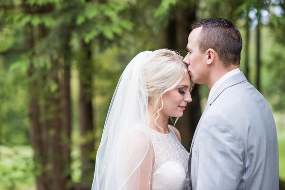 Tori and Gage. Backyard Fraser Valley Wedding