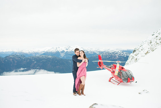 Melanie and Paul. Blackcomb Engagement