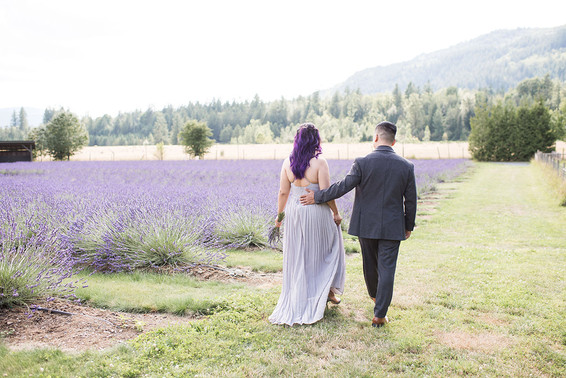 Anne and Rod.                              Lavender Field Engagement
