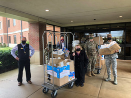 LCLA donates welcome bags to Airmen