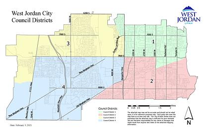 Council District Map - With District Num