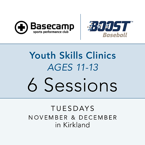 Youth Skills Clinics  -  Age 11-13  -  Tuesdays, 7 to 8pm