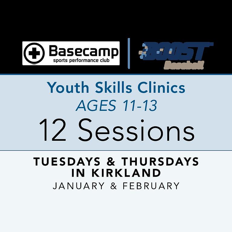 Age 11-13 - Youth Clinic - Tuesdays & Thursdays 7pm
