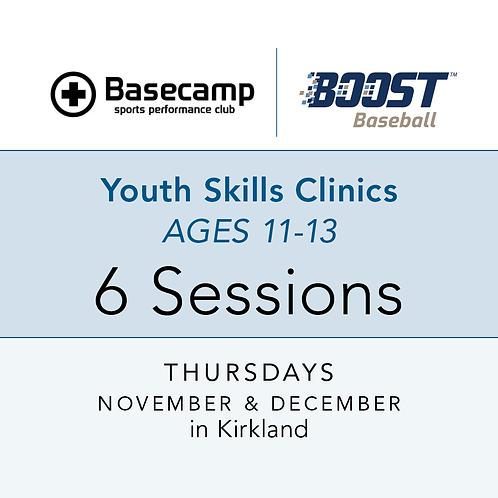 Youth Skills Clinics  -  Age 11-13  -  Thursdays, 7 to 8pm