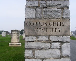 The entrance to the Corpus Christ Cemtery in Chambesburg, PA.