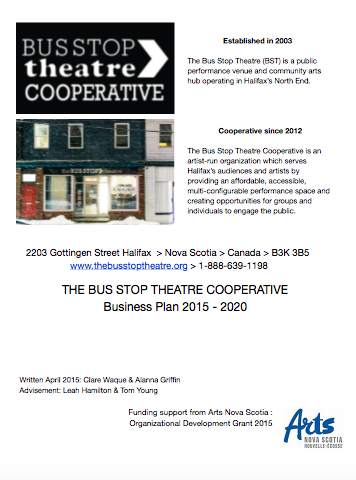 Bus Stop Theatre Business Plan