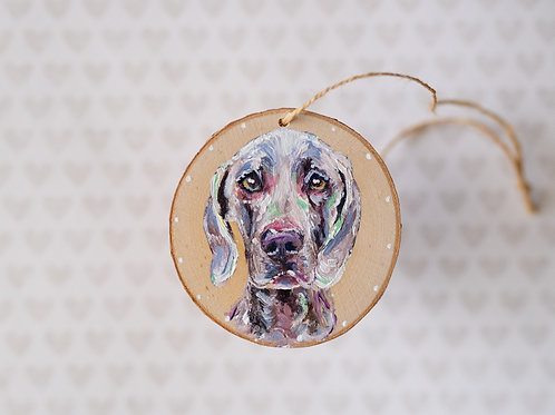 Keepsake Ornament   Custom Pet Portrait on Raw Wood