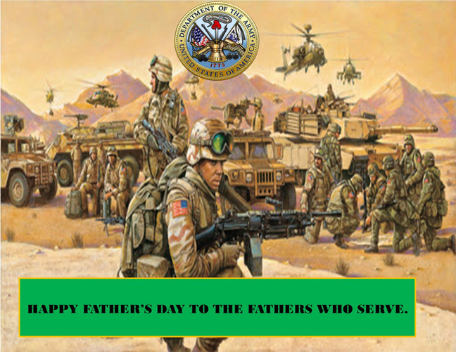 HAPPY FATHER'S DAY ARMY DAD'S 2020