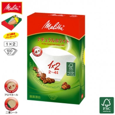 Melitta Filter Paper Aromagic Natural White 1x2G 100P
