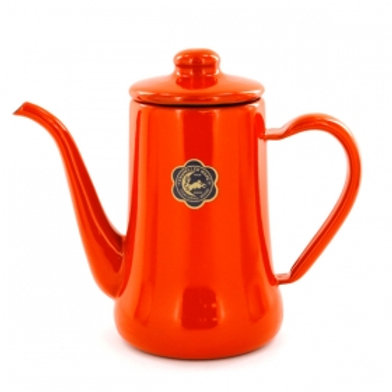 TUKIUSAGIJIRUSI Enamel Slim Pot 0.7L (Red)