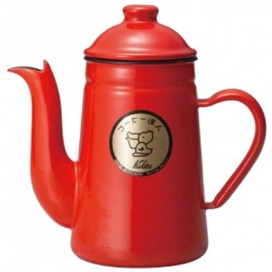 Kalita Enamel Kettles COFFEE-TATUJIN 1L (Red)
