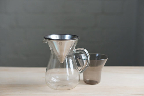 Kinto Stainless Filter Coffee Carafe Set 300ml