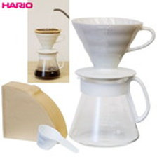 Hario V60 Ceramic Dripper set XVDD-3012W