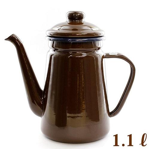Break Time Enamel Pot (Brown)  HB1630/ 1.1L