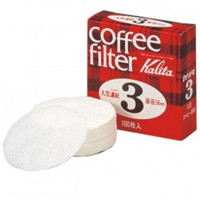 Kalita Round paper filters #3 (100 filters)