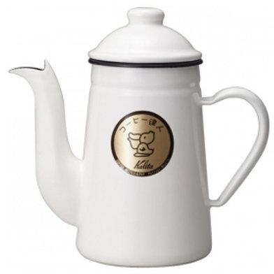 Kalita Enamel Kettles COFFEE-TATUJIN 1L (White)
