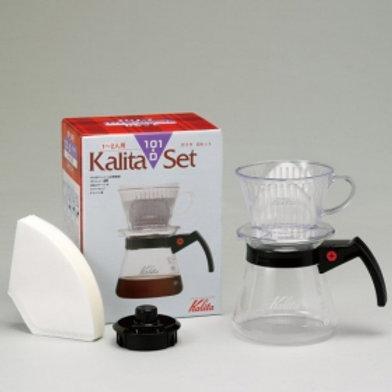 Kalita 101-D Set N (Resin Dripper + Glass Server)