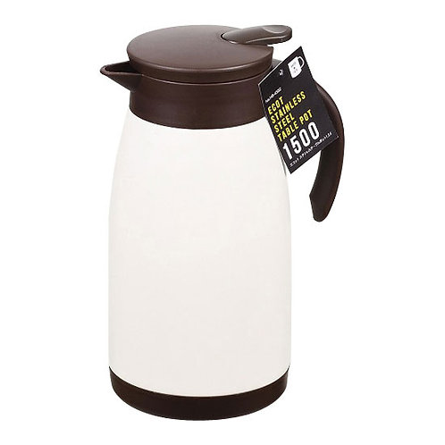 Ecotto Stainless Table Pot 1500ml White HB-4382
