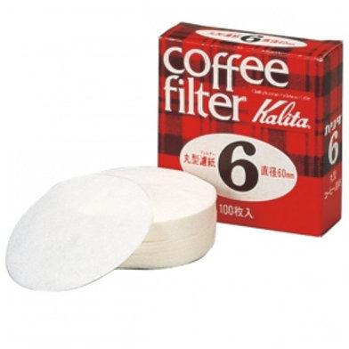 Kalita Round paper filters #6