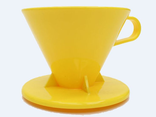 Tiamo Cone Dripper Yellow -small size