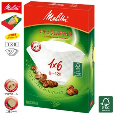 Melitta Filter Paper Aromagic Natural White 1x6G 100P
