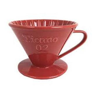 Tiamo Ceramic Cone Dripper Red-02