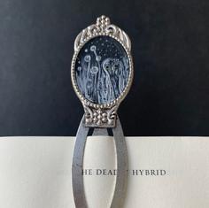 Barking Owl Bookmark, acrylic on cardboa