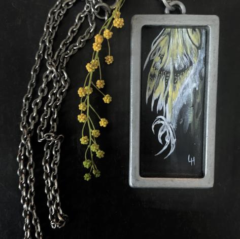 Talons & Feathers, acryclic on cardboard