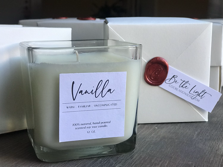 Large Warm Vanilla Candle