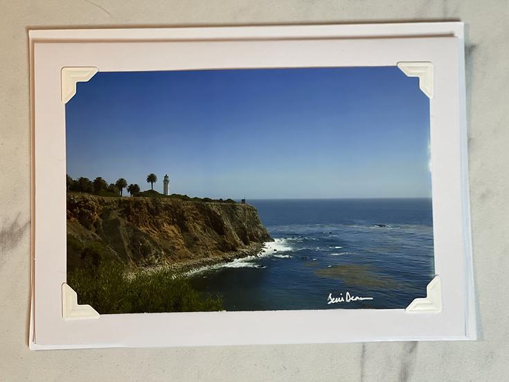 Greeting Card - Rancho Palos Verdes Lighthouse