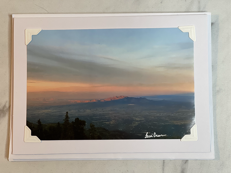 Greeting card - New Mexico Sunset