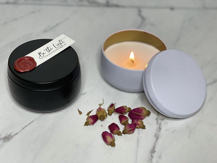 Black or White Tin - 8 oz container