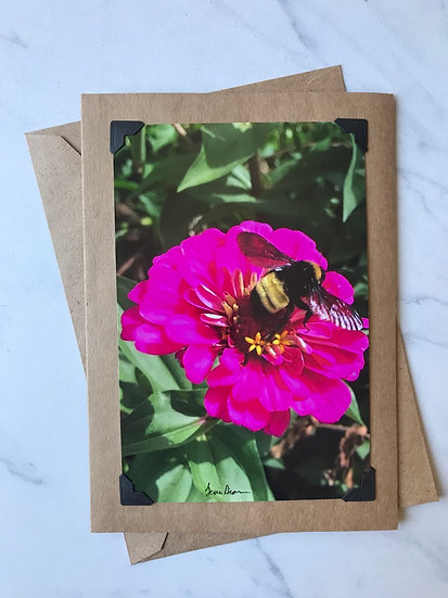 Bee on Bright Pink Flower-OTF