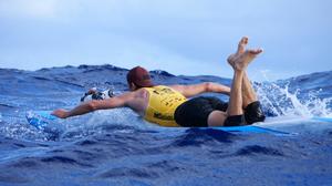 Ludovic Dulou en prone paddleboard - M20 - Belharra Watermen Club