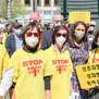 """""""아시아인 향한 증오 멈춰라""""…샌프란시스코서 3천명 행진시위"""
